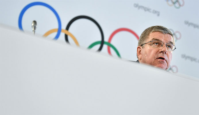 IOC President Thomas Bach welcomed the deal with Allianz ©Getty Images