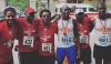 "Members of the Trinidad and Tobago Olympic Committee, including President Brian Lewis, second left, after completing the ""Walk the Talk"" ©TTOC"