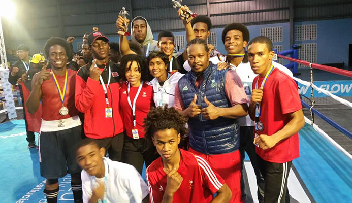 The TT boxing team at the Caribbean Championships in St Lucia.