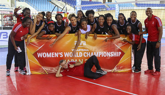 Trinidad & Tobago celebrate historic first ever qualification to an FIVB World Championship after beating Costa Rica in Port of Spain.