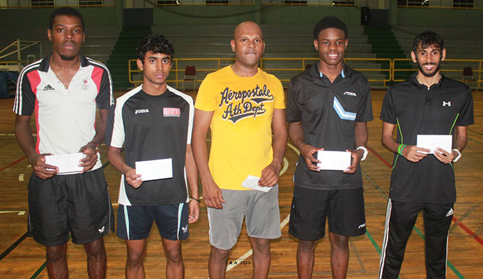 Aaron Wilson,left and Yuvraaj Dooram, right, will be representing TT, along with veteran Dexter St Louis and Rheann Chung at the upcoming Commonwealth Games to be held between April 4-15 in Birmingham,England.