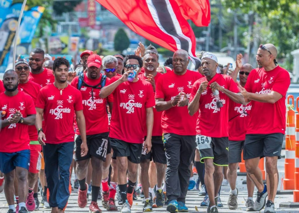 The Trinidad and Tobago International Marathon was again used to drum up support for the country's Olympic preparations ©TTOC