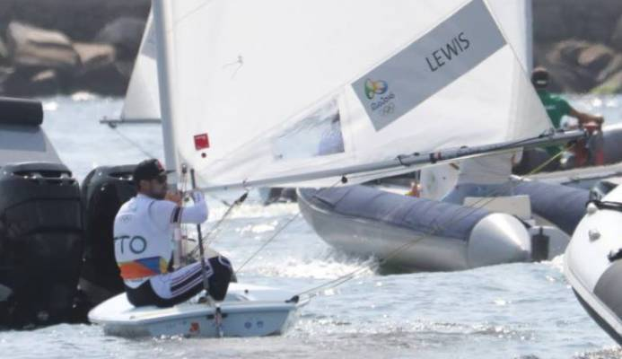 In this fAugust 8,2016 file photo, TT's Andrew Lewis competes in the Men's Laser event at the 2016 Olympics at Copacabana, Rio de Janeiro, Brazil. - Allan V. Crane