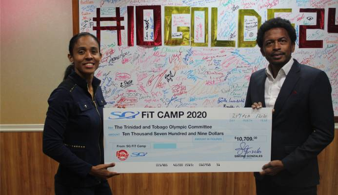 SG FIT CAMP MAKE CONTRIBUTION TO THE TTOC ATHLETE WELFARE AND PREPARATION FUND.