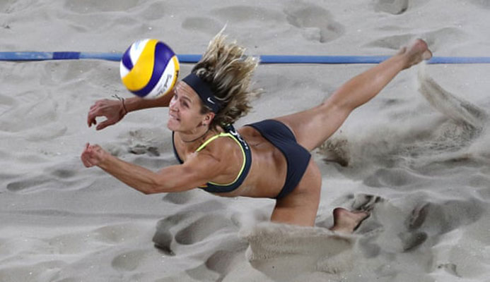 Basketball is my first love, but the athleticism of beach volleyball is amazing